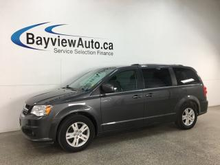 Used 2018 Dodge Grand Caravan Crew - HTD LTHR! PWR DOORS! STOW 'N GO! 3 ZONE CLIMATE! for sale in Belleville, ON