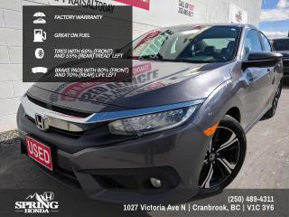 Used 2018 Honda Civic Touring FACTORY WARRANTY, GREAT ON FUEL, 2 SETS OF KEYS, LOCAL TRADE - $155 BI-WEEKLY - $0 DOWN for sale in Cranbrook, BC