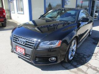 Used 2010 Audi A5 S-LINE COUPE EDITION 4 PASSENGER 2.0L - TURBO.. QUATTRO-AWD.. LEATHER.. HEATED SEATS.. POWER SUNROOF.. BLUETOOTH SYSTEM.. for sale in Bradford, ON