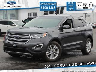 Used 2017 Ford Edge SEL AWD CUIR TOIT for sale in Victoriaville, QC