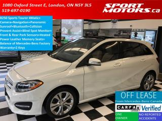 Used 2015 Mercedes-Benz B-Class B250 4Matic+GPS+Camera+Pano Roof+ for sale in London, ON