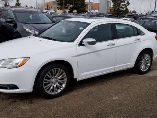 Used 2014 Chrysler 200 Limited; V6' LEATHER, SUNROOF, HEATED SEATS for sale in Edmonton, AB