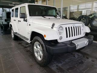Used 2014 Jeep Wrangler Unlimited SAHARA, HEATED SEATS, NAVI, ACCIDENT FREE for sale in Edmonton, AB