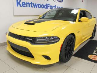 Used 2017 Dodge Charger SRT392 Daytona Edition RWD, NAV, SCAT Pack, LOW KM's! sunroof, heated/cooled power leather seats, push start/stop, back up cam for sale in Edmonton, AB