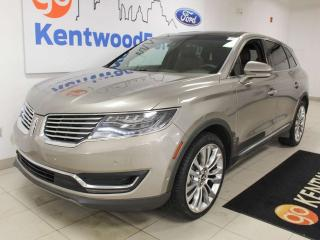 Used 2016 Lincoln MKX RESERVE AWD, SUV, One Owner, Clean Carproof, Leather Luxury, NAV, sunroof, heated/cooled power leather seats, heated steering wheel, parallel park assist for sale in Edmonton, AB