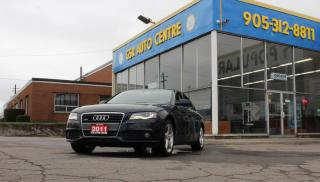 Used 2011 Audi A4 2.0T Sedan quattro Tiptronic | LEATHER HEATED SEATS | ALLOY WHEELS | SUNROOF | KEYLESS ENTRY | HEATED SIDE MIRRORS | DRIVER SEAT LUMBAR ADJUSTMENT for sale in Hamilton, ON