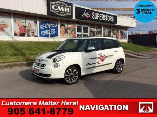 Used 2014 Fiat 500 L Lounge  NAV LEATH HS PANO-ROOF ALLOYS FIAT-DECALS for sale in St. Catharines, ON