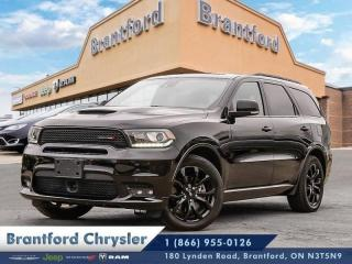 Used 2019 Dodge Durango R/T  - Leather Seats -  Cooled Seats - $316.24 B/W for sale in Brantford, ON