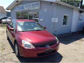 Used 2005 Honda Accord Fully Certified! for sale in St Catharines, ON