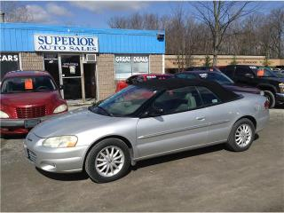 Used 2001 Chrysler Sebring LXi Fully Certified! for sale in St Catharines, ON