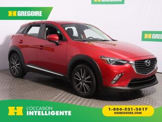 Used 2016 Mazda CX-3 GT AWD A/C CUIR for sale in St-Léonard, QC