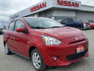 Used 2014 Mitsubishi Mirage SE w/heated seats,climate control,cruise control,fog lamps,alloys for sale in Cambridge, ON