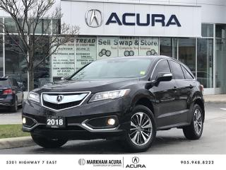 Used 2018 Acura RDX Elite at AWD, Vented Seats, Parking Sensors for sale in Markham, ON