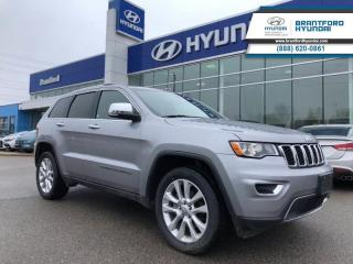 Used 2017 Jeep Grand Cherokee Limited  - Leather Seats - $213.04 B/W for sale in Brantford, ON