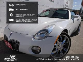 Used 2008 Pontiac Solstice NO ACCIDENTS, WELL MAINTAINED, 2 SETS OF KEYS, LOCAL TRADE - $148 BI-WEEKLY - $0 DOWN for sale in Cranbrook, BC
