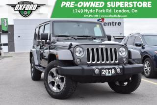 Used 2018 Jeep Wrangler JK Unlimited Sahara - Great Summer Vehicle, UConnect/Bluetooth for sale in London, ON