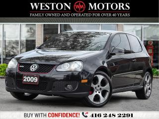Used 2009 Volkswagen GTI AUTO*LEATHER*SUNROOF*PRICED TO SELL!!* for sale in Toronto, ON