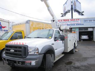 Used 2005 Ford F-550 bucket truck  50 ft working high for sale in North York, ON