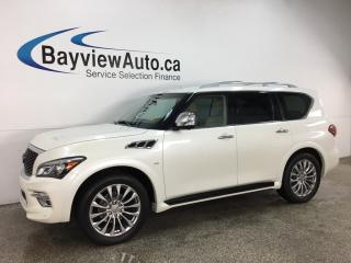Used 2016 Infiniti QX80 8 Passenger - 8 PASS! NISSAN DIRECT! LOADED! for sale in Belleville, ON