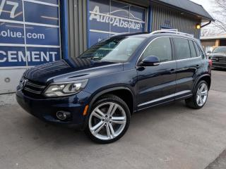 Used 2014 Volkswagen Tiguan R line + cuir + toit +  awd for sale in Boisbriand, QC