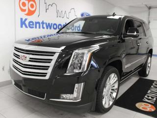 Used 2015 Cadillac Escalade Platinum 4WD, NAV, sunroof, heated/cooled power leather seats, back up cam for sale in Edmonton, AB