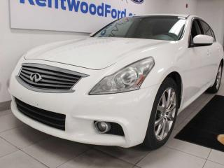 Used 2011 Infiniti G37 Sedan G37x S AWD with sunroof, heated power leather eats, push start/stop for sale in Edmonton, AB