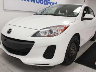 Used 2013 Mazda MAZDA3 SPORT GX FWD 5-SPD hatchback in winter white for sale in Edmonton, AB