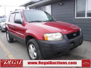 Used 2003 Ford Escape XLS 4D Utility 4WD for sale in Calgary, AB