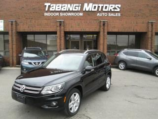 Used 2015 Volkswagen Tiguan COMFORTLINE | LEATHER | SUNROOF | REAR CAMERA | B\T for sale in Mississauga, ON
