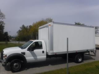 Used 2009 Ford F-550 Cube Van 16 foot box Dually Diesel for sale in Burnaby, BC