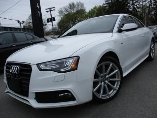 Used 2015 Audi A5 2.0T QTRO S-LINE~PROGRESSIV~NAVI~SUNROOF !!! for sale in Burlington, ON