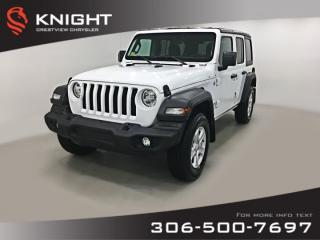 New 2019 Jeep Wrangler Unlimited Sport 'S' | Heated Seats and Steering Wheel | Remote Start for sale in Regina, SK