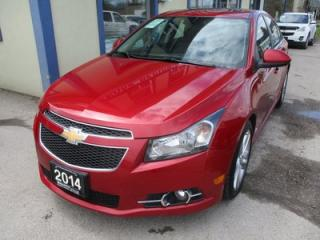 Used 2014 Chevrolet Cruze LOADED LTZ - RS MODEL 5 PASSENGER 1.4L - TURBO.. LEATHER.. HEATED SEATS.. POWER SUNROOF.. BACK-UP CAMERA.. PIONEER AUDIO.. for sale in Bradford, ON