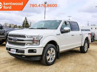 Used 2019 Ford F-150 Platinum 700A 3.5L V6 Ecoboost 4X4, Power Heated/Ventilated Seats, Premium Leather Seats, Auto Start/Stop, Navigation, Remote Keyless Entry, Remote Vehicle Start, Reverse Camera System, Pre-Collision Assist, Trailer Brake Controller for sale in Edmonton, AB