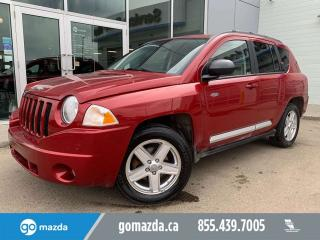 Used 2010 Jeep Compass SPORT 4X4 POWER OPTIONS HEATED SEATS SUNROOF for sale in Edmonton, AB