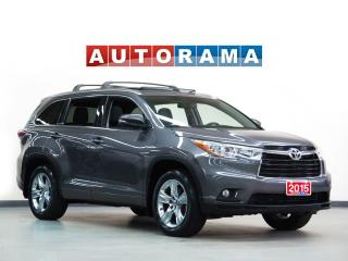 Used 2015 Toyota Highlander Hybrid LTD AWD Navigation Leather Sunroof for sale in Toronto, ON