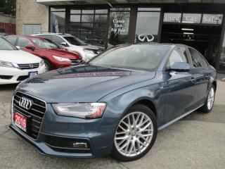 Used 2016 Audi A4 QUATRO-SLINE-LEATHER-SUNROOF-BLUETOOTH-HEATED for sale in Scarborough, ON