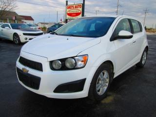 Used 2013 Chevrolet Sonic LT Manual 5-Door for sale in Alvinston, ON