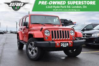 Used 2018 Jeep Wrangler JK Unlimited Sahara - Low Mileage, Coloured Hard Top for sale in London, ON