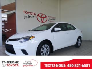 Used 2015 Toyota Corolla A/C GR ÉLECT for sale in Mirabel, QC