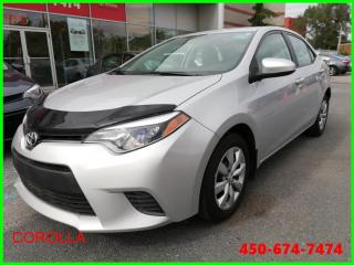 Used 2016 Toyota Corolla LE ** AUTOMATIQUE CAMÉRA DE RECUL ** for sale in Longueuil, QC