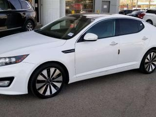 Used 2011 Kia Optima EX LUX; LOADED, NAV, BACKUP CAM, HEATED/COOLING SEATS, KEYLESS ENTRY/START, LEATHER, SUNROOF AND MORE for sale in Edmonton, AB