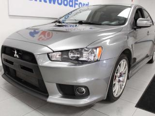 Used 2015 Mitsubishi Lancer Evolution GSR 5-SPD AWD manual with heated seats for sale in Edmonton, AB