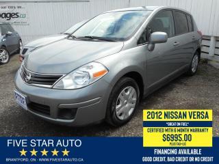 Used 2012 Nissan Versa Certified w/ 6 Month Warranty for sale in Brantford, ON
