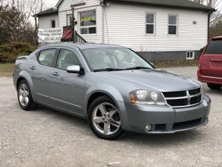 Used 2008 Dodge Avenger LOW KMS V6 R/T FWD Leather Sunroof Boston Audio for sale in Sutton, ON