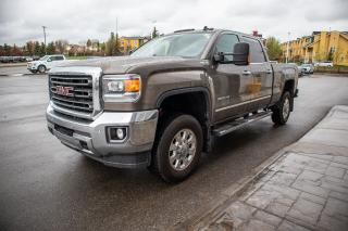Used 2015 GMC Sierra 3500 HD Crew Cab SLT w/ leather navigation, 5th wheel hitch, accident free history. for sale in Okotoks, AB