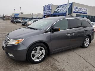Used 2012 Honda Odyssey Touring ACCIDENT FREE|DVD ENT SYS||NAVI|HEATED SEATS|LEATHER|SUNROOF|ALLOYS for sale in Concord, ON