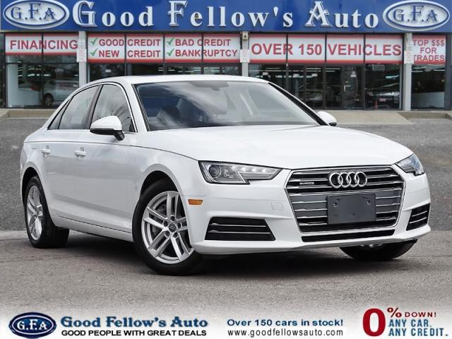 2017 Audi A4 2 L CYL GASOLINE FUEL, AWD, QUATRO, POWER MOONROOF