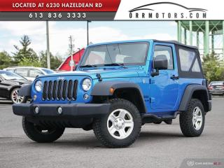 Used 2016 Jeep Wrangler SPORT for sale in Ottawa, ON
