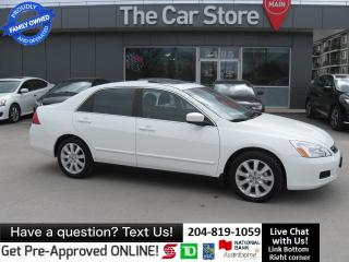 Used 2007 Honda Accord SE SUNROOF LOCAL TRADE cruise control clean title for sale in Winnipeg, MB